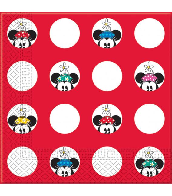 Tovagliolo 33 x 33 cm 3 Veli Minnie e Daisies Disney 3 Pz