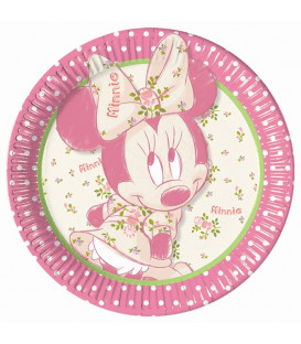Piatto Piano Grande di Carta 23 cm Minnie Vintage Disney