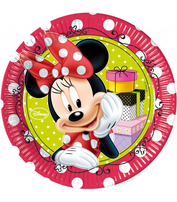 Piatto Piano Grande di Carta 23 cm Minnie Fashion Boutique Disney