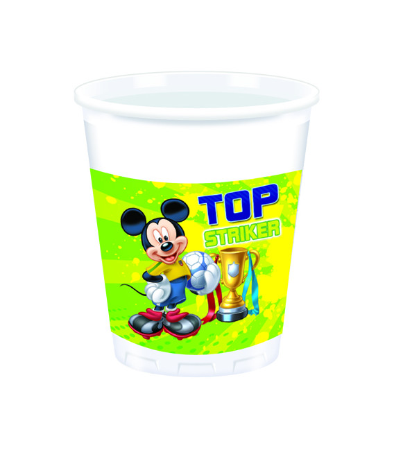 Bicchieri di Plastica 180 - 200 cc Mickey Mouse Goal Team Disney
