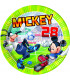 Piatto Piano Grande di Carta 23 cm Mickey Mouse Goal Team Disney