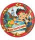 Piatto Piano Piccolo di Carta 20 cm Pirata Jake Buon Compleanno Disney