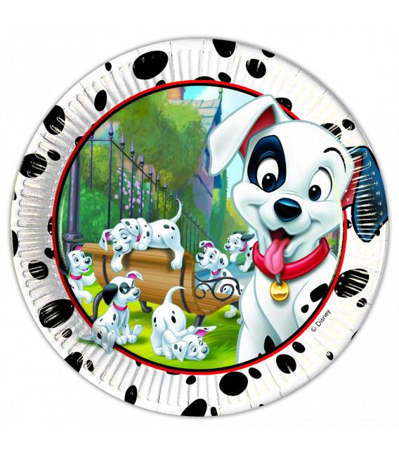 Piatto Piano Grande di Carta 23 cm La Carica dei 100 e 1 Dalmata Disney
