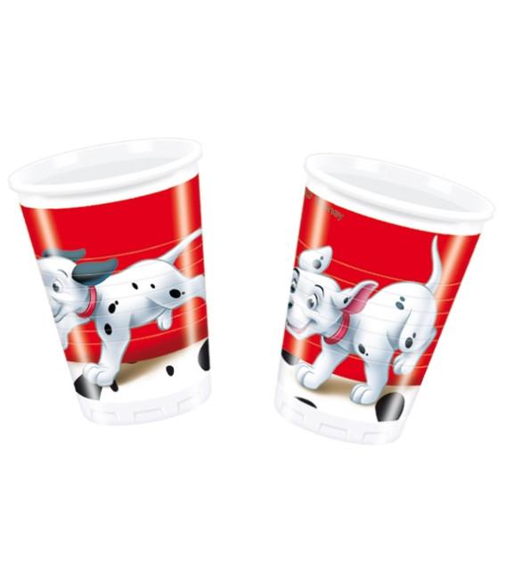 Bicchieri di Plastica 180 - 200 cc La Carica dei 100 e 1 Dalmata Disney