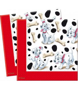 Tovaglioli 33 x 33 cm 3 Veli La Carica dei 100 e 1 Dalmata Disney 3 Pz