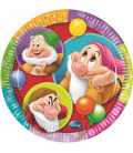 Piatto Piano Piccolo di Carta 20 cm I Sette Nani Colour Disney