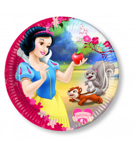 Piatto Piano Piccolo di Carta 20 cm Biancaneve Colour Disney