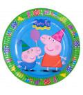 Piatto Piano Grande di Carta 23 cm Peppa Pig