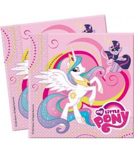 Tovagliolo 33 x 33 cm 2 Veli My Little Pony 3 Pz