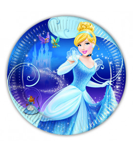 Piatto Piano Piccolo di Carta 20 cm Cenerentola Disney