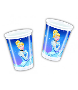 Bicchieri di Plastica 180 - 200 cc Cenerentola Disney 3 confezioni
