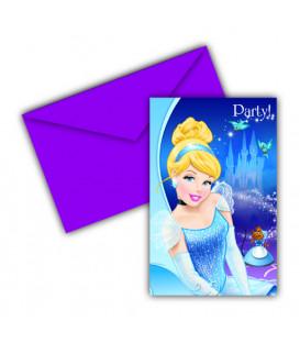 Biglietti Inviti Compleanno Cenerentola Disney 2 confezioni