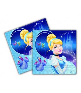 Tovagliolo 33 x 33 cm 2 Veli Cenerentola Disney 3 Confezioni