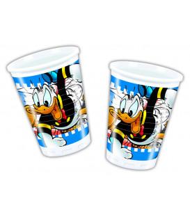 Bicchieri di Plastica 180 - 200 cc Donald Duck Disney