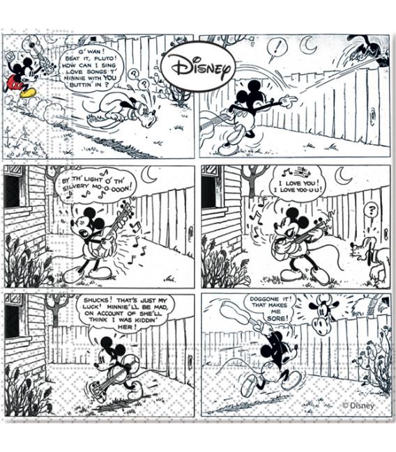 Tovagliolo 33 x 33 cm 3 Veli Mickey Mouse Colours Disney 3 Pz