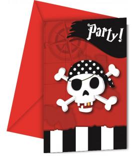Biglietti Inviti Compleanno Pirate's ComeBack