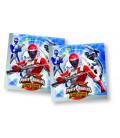 Tovagliolo 33 x 33 cm 2 Veli Power Rangers Operation Overdrive 3 confezioni