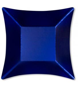 Piatti Piani di Carta Quadrati Piccoli Blu Satinato Wasabi