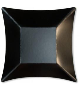Piatti di Carta Quadrati Grandi Wasabi Nero Opaco 19,8 x 19,8 cm