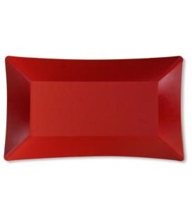 Piatti di Carta Rettangolare Wasabi Rosso Opaco 24,5 x 14,5 cm
