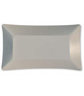 Piatti di Carta Rettangolare Wasabi Bianco Opaco 24,5 x 14,5 cm