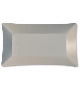 Piatti di Carta Rettangolare Wasabi Bianco Opaco