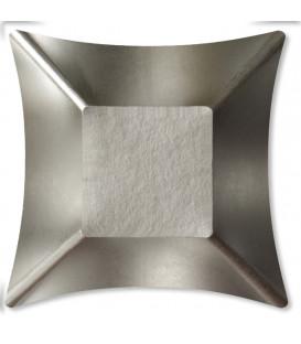 Coppetta Quadrata Piccola di Carta Argento Satinato Wasabi