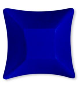 Coppetta Quadrata Piccola di Carta Blu Satinato Wasabi