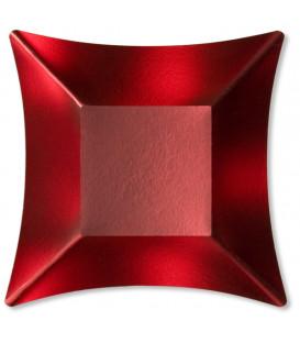 Coppetta Quadrata Piccola di Carta Rosso Satinato Wasabi 11,6 x 11,6 cm