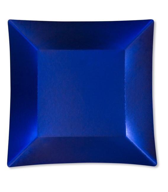 Piatti Piani di Carta Quadrati Grandi Blu Satinato Wasabi