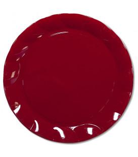 Piatti Piani di Plastica a Petalo Rosso 20 cm 5 confezioni