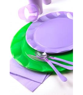 Piatti Piani di Plastica a Petalo Lilla