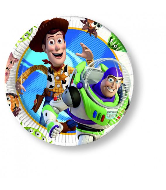 Piatto Piano Piccolo di Carta 20 cm Toy Story Disney