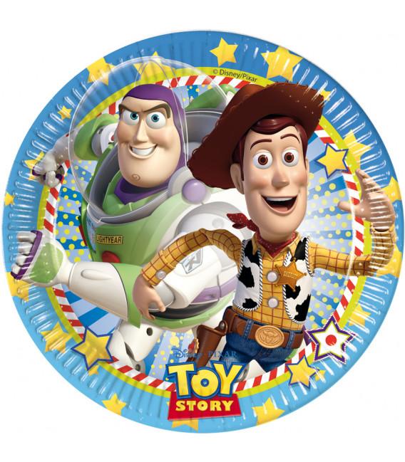 Piatto Piano Grande di Carta 23 cm Toy Story Disney