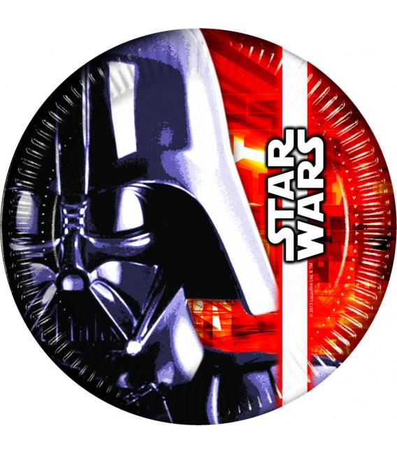 Piatto Piano Grande di Carta 23 cm Star Wars Disney