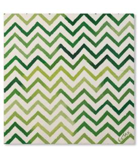 Tovaglioli Chevron Verde 33 x 33 cm 3 confezioni