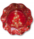 Piatti Fondi di Carta a Petalo Natale in Rosso 24 cm 2 confezioni