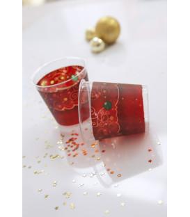 Bicchieri di Plastica Natale in Rosso 300 cc
