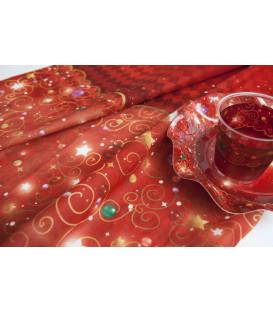 Tovaglia Rettangolare Natale in Rosso 140 x 240 cm
