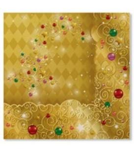 Tovaglioli XMAS LIGHT GOLD 33 x 33 cm 3 confezioni