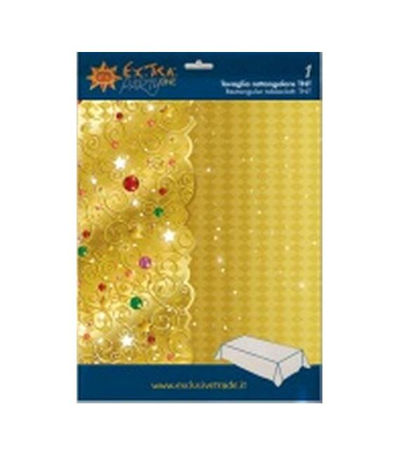 Tovaglia Rettangolare XMAS LIGHT GOLD 140 x 240 cm