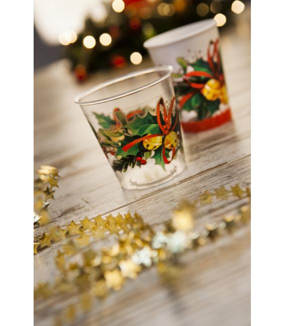 Bicchieri di Plastica Jingle Bells 300 cc
