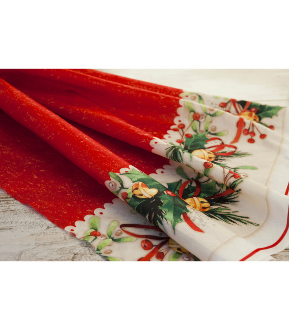 Piatti Fondi di Carta a Petalo Jingle Bells 18,5 cm