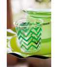 Bicchieri di Plastica Chevron Verde 300 cc
