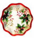 Piatti Fondi di Carta a Petalo Tradition Agrifoglio 24 cm