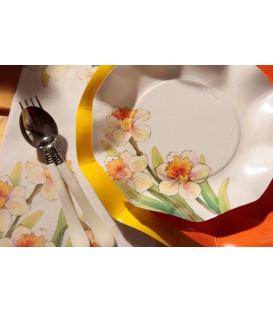 Tovaglioli 3 Veli 33 x 33 cm Floreali Narcisi 3 Confezioni