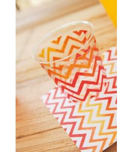 Bicchieri di Plastica Chevron Rosso 300 cc 3 confezioni