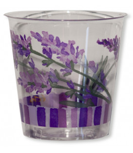 Bicchieri di Plastica Fiori Lavanda 300 cc