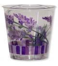 Bicchieri di Plastica Fiori Lavanda 300 cc 3 confezioni