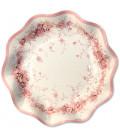 Piatti Fondi di Carta a Petalo Rose Garden 24 cm